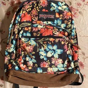 Jansport Hawaiian print backpack